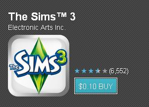 The Sims 3 for Android = Only 10 Cents!!!