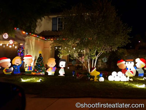 Houses with Christmas Lighting in California