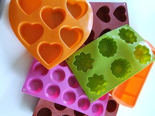 algunos de mis moldes de silicona