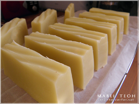 Grapefruit with vanilla oil soap curing