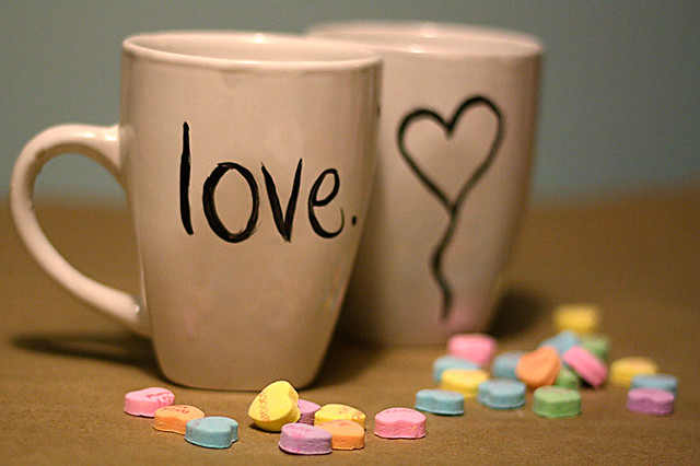 DIY Hand-Painted Valentine Mugs