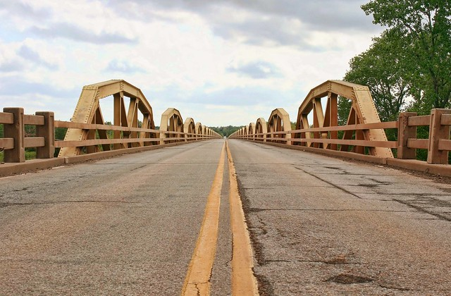 Looking across the Pony Bridge, Route 66, Oklahoma