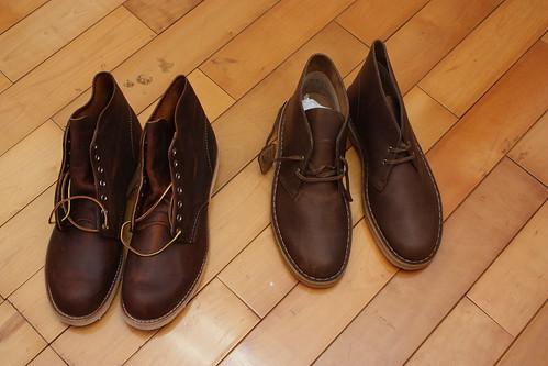 Clarks 沙漠靴 + RedWing 9111 雙開 - Mobile01