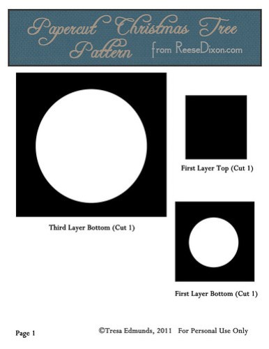 Papercut Nativity Tree Pattern Page 1