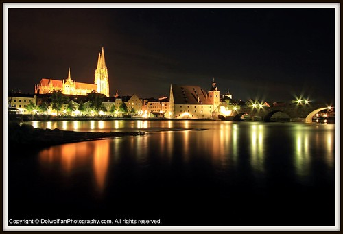 Regensburg, Across The Danube. by Dolwolfian