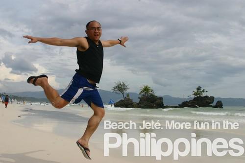 Beach Jeté. More Fun in the Philippines
