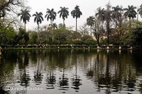 Lake in front of Ho Chi Minh's house.