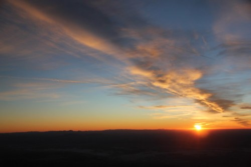 Last sunset of 2011 from Guadalupe Peak