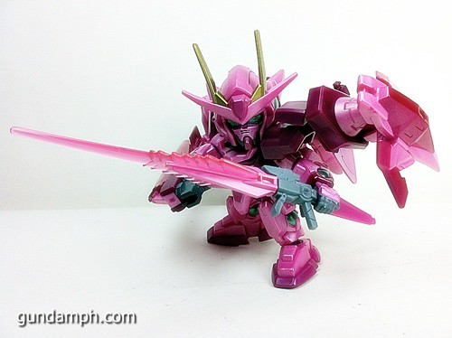 SD Gundam Online Capsule Fighter Trans Am 00 Raiser Rare Color Version Toy Figure Unboxing Review (63)