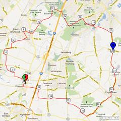 08. Bike Route Map. Cranbury NJ