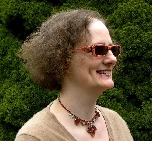 Sue in her new sunglasses