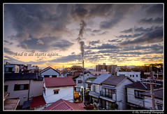 And it all starts again... (Sunrise in Kobe)