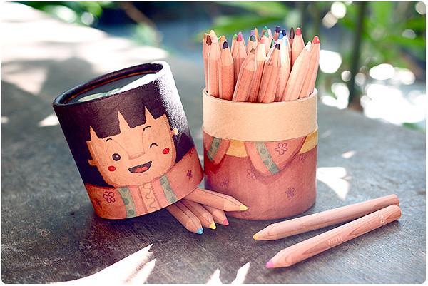 customized Muji colored pencils