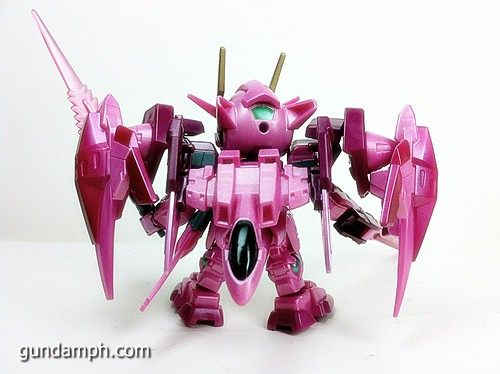 SD Gundam Online Capsule Fighter Trans Am 00 Raiser Rare Color Version Toy Figure Unboxing Review (53)