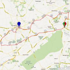 10. Bike Route Map. Somerset Valley YMCA, Hillsborough, NJ