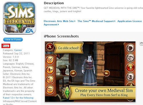Get The Sims Medieval iPhone for FREE!!!!!!!