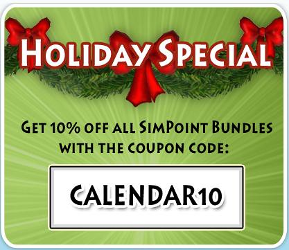 Day 6 of Sims 3 Countdown Calender = 10% off All SimPoint Bundles!