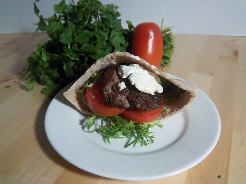 Indian Lamb Burgers with Goat Cheese