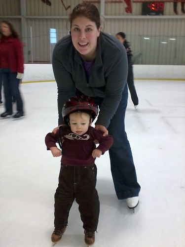 Ice Skating- He LOVED it!