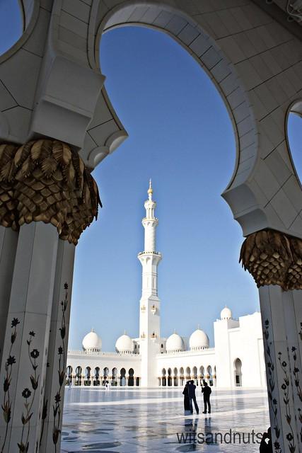 Sheikh Zayed Grand Mosque framed, Abu Dhabi, UAE