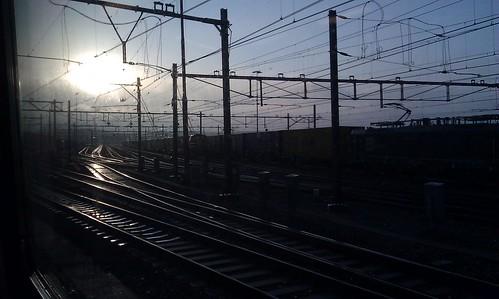 Окно забацанного поезда by Sergii Denega