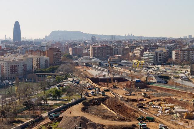 Vista de la zona de la futuras estación de La Sagrera - 30-01-12