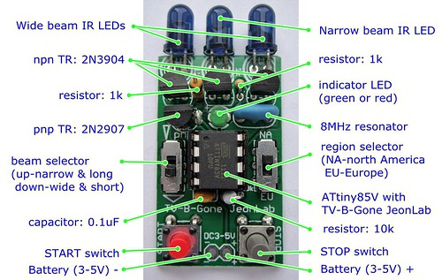 components of TV-B-Gone_JeonLab