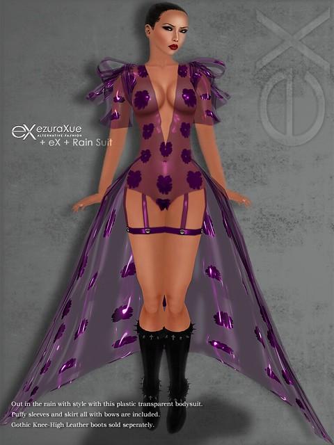 + eX + Rain Suit *Purple Set
