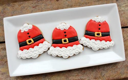 Santa BELL-y Cookies - Sweet Sugar Belle via Life's a Batch