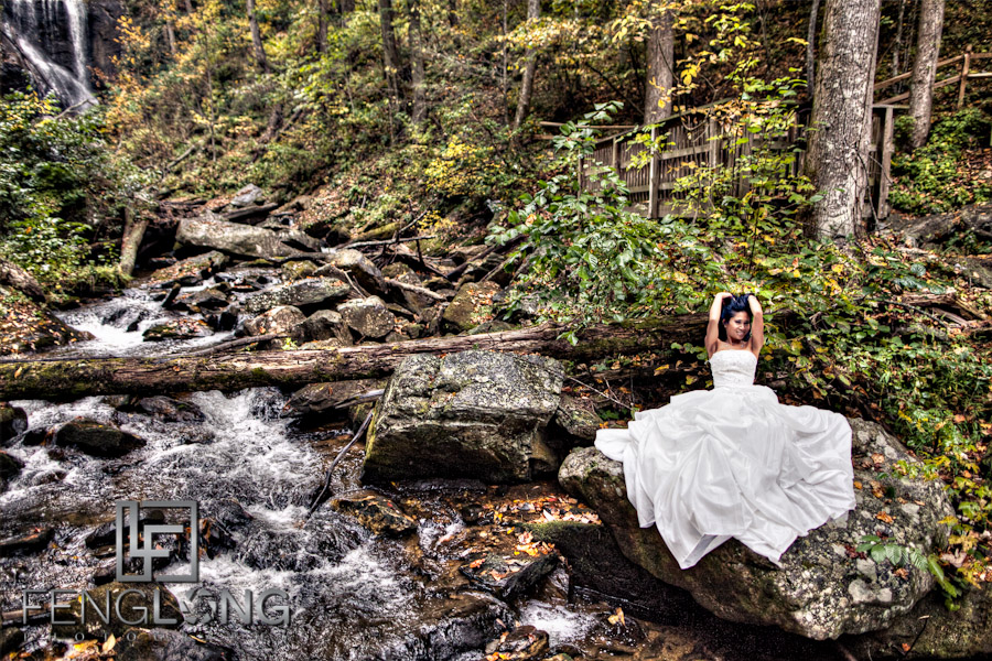 HDR Portrait   Khammy's Bridal Portrait Session   Anna Ruby Falls   Helen, GA Wedding Photographer