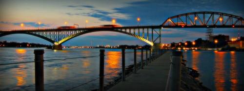 Peace Bridge Night -  Old Lights