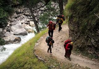 Nepali on trail