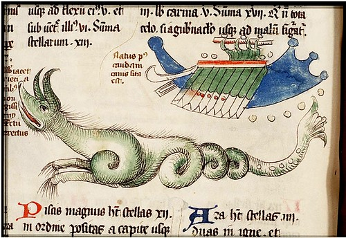 Sea Monster. Lille 1460. colored drawing. KB 72 A 23 by tony harrison