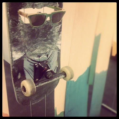 Recycling: Sonnenbrillen aus alten Skateboards.