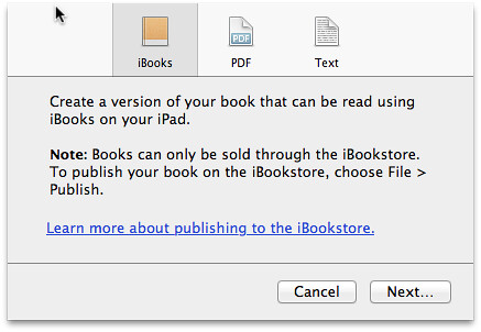 iBooks Author licensing restriction
