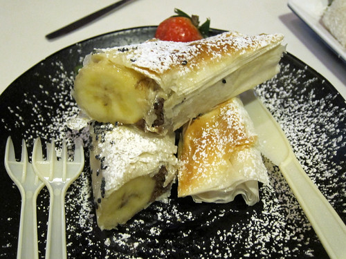 Banana and Chocolate in Filo Pastry