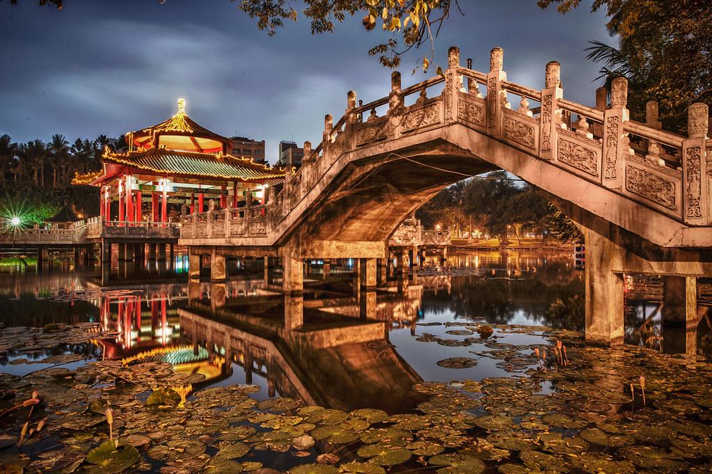 Tainan Park at Night