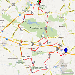 17. Bike Route Map. Etra Lake Park, Hightstown, NJ