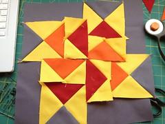 2012 3x6 Solids Bee Block - In Progress