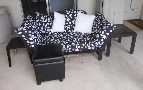 Back patio set.