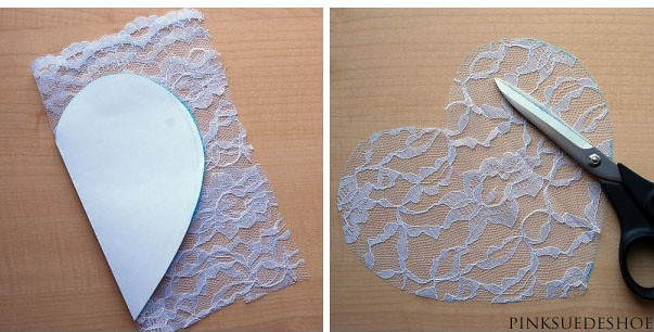 cut out a lace heart