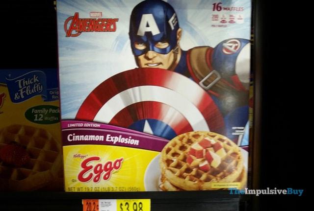 Kellogg's Limited Edition Marvel Avengers Cinnamon Explosion Eggo Waffles