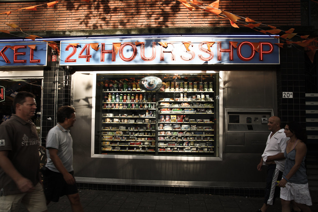 Kick ass vending machine, Rotterdam, TDF 2010