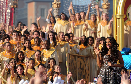 Jennifer Hudson tapes Christmas Day TV special at Walt Disney Wo