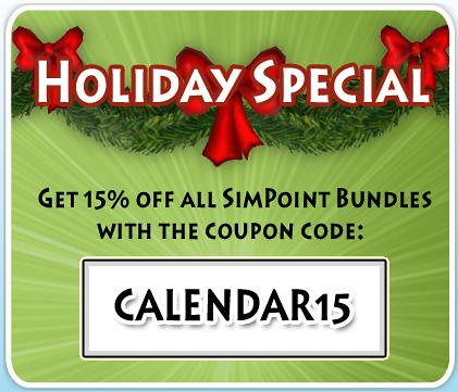 Sims 3 Calender Day 13 = 15% Off of All SimPoint Bundles!