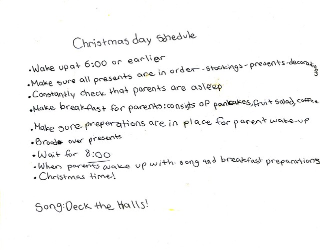 Momi's Christmas Plan 2011
