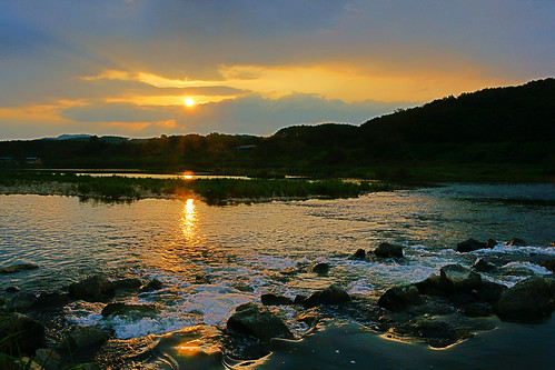 Sunset at the Seomjin River, Sunchang County