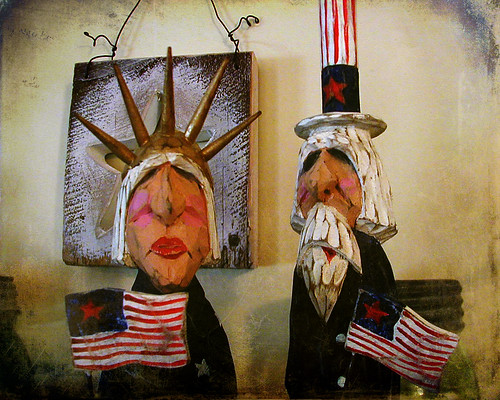 Lady Liberty  and Uncle Sam by jumpinjimmyjava
