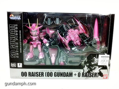 SD Gundam Online Capsule Fighter Trans Am 00 Raiser Rare Color Version Toy Figure Unboxing Review (1)
