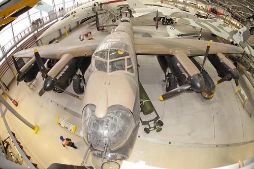 Lancaster Bomber fish-eye shot